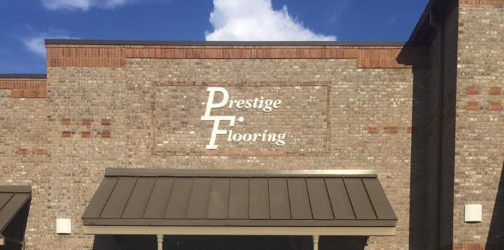 Prestige Flooring storefront on South College St Auburn